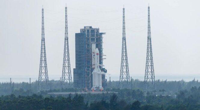 अन्तरिक्ष स्टेसन बनाउन चीनको पहिलो महत्त्वपूर्ण रकेट प्रक्षेपण