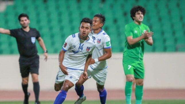 इराकविरुद्ध नेपाल ६-२ गोलले पराजित