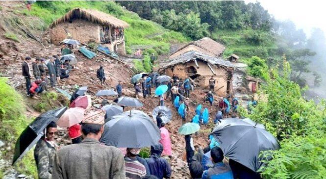 मनसुन बाहिरिएपछि झनै ठूलो वर्षा: १४ जनाको मृत्यु, ३४ बेपत्ता, करिब १४ सय परिवार विस्थापित